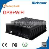 Richmor 8 Channel Full D1 Mobile DVR With WIFI GPS For Realtime Tracking & WIFI Automatic Download