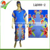 lady Fashion dresses designes african stretch kaftan clothes plus size clothing for women