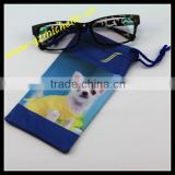 MIC4060 Microfiber Dog animal Heat transfer printing drawstring cleaning pouch for jewelry eyeglass phone ipad