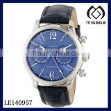 Men's Analog Display Automatic Self Wind Blue Watch*Two sub-dials for day and date function mechanical watch