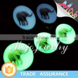 Glow In The Dark Charm with Digital Printing Elephant Pattern Cheap Charms for Charms Bracelets and Necklaces
