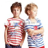 Wholesale Spring Autumn Fashion Children T Shirts Unisex Striped Short Sleeve T-Shirt Baby Boys Girls Cotton Sport Tops T Shirts