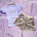 Baby Crazy Sparkly Summer Clothing Girls Boutique Clothing Bulk Wholesale Children Clothes Set