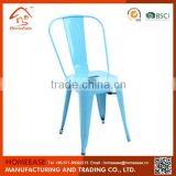 China Supplier High Quality Commercial Furniture Restaurant Colorful Metal Stacking Chairs