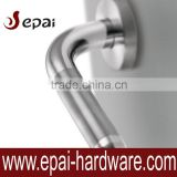 Stainless steel door lever handle hollow tube/ Stainless steel lever handle Satin+Polished/ Stainless steel door handle lock
