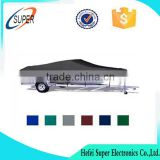 600D Oxford Polyester heavy duty trailerable plastic Boat cover