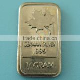 A95b 1 Gram German Silver Maple Leaf Bar
