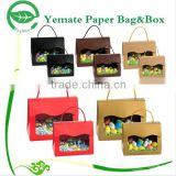 New Arrived decorative handmade printing gift design small recycle paper folding candy box