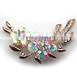 Wedding Bouquet Ab Color Rhinestone Flower Brooch,Color Rhinestone Brooch Pin For Garment Embellishment