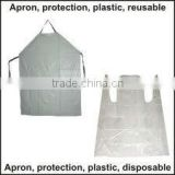 Transparent Plastic Waterproof Apron for Protection