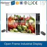 Industrial screen lcd parts for tv, open frame rich signal input LCD monitor, commercial frameless lcd monitor