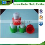 28mm plastic bottle cap push pull, plastic sprots cap with saftly ring