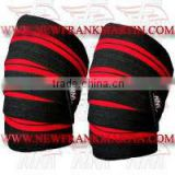 Weightlifting Knee Wraps Heavy Duty High Quality Gym Training Exercise Knee Bandages