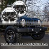 "7"" Round Chrome Full LED Halo Projector Headlights Lamps Wrangler TJ, JK, CJ, Harley Motorcycle bike"