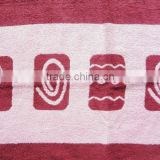 cotton bath mat towel with both sides terry
