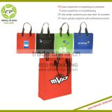 Nonwoven Promotional Bag With Grommet Double Stitched Stripe Handles