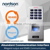 Nordson Waterproof Biometric Fingerprint reader scanner and Standalone door Access Control System for 3rd party electric lock