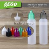 2016 new product Squeeze 30ml e-liquid plastic pen shape unicorn bottles with plastic cap