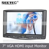 7 inch lcd screen touchscreen high brightness 800X480 vga input connect to pc gas monitor