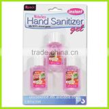Waterless hand sanitizer in blister card