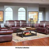 Red Brown PU Sofa, australia wicker dining table ,Sofa Italy style living room