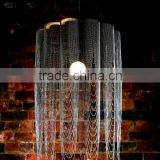 0522-27 chain hung chain hung jute rope chandelier lights mosaic