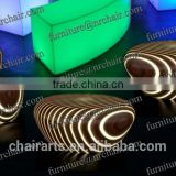 shanghai night club party acrylic led Marshmellow stool and table or chair