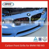 NEW Double Rib Style M Look Carbon Gloss Black Front Kidney Grille for BMW F80 M3 F82 M4