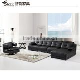 new style Modern black Leather Anson Sofa Classic Sofa 2 seats sofa For Living Room Furniture