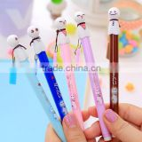 DIY creative stationery kids personalized Novelty cute japanese cartoon Snowman face Ballpoint pen Lovely child emoji Ball Pens