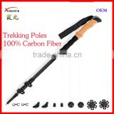 4 Seasons Accessories Quick and Easy Lock Cork Handle Carry Bag 100% Carbon Fiber Trekking Poles walking stick