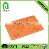 best quality Star &Shell Shape silicone ice cube tray jello mold candy soap mold with FDA and LFGB standard