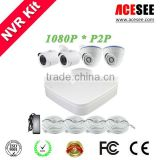 wholesale baby monitor cctv IP66 Vandalproof HD Dome NVR Kit--Easy Install and Operate