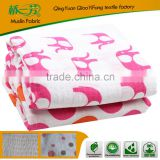 100% bamboo blanket for baby ,with little fleece super soft and healthy blanket for baby