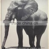 Elephant 3 A26 High Quality Printed Animal Linen Canvas Art Wall Oil Printing