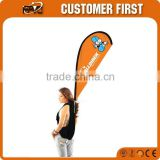 Backpack Flying Banner, Outdoor Fiberglass Flying Flag, Teardrop Backpack Custom Printed Flag