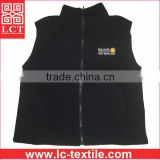 supply custom embroidery cheap100% filament polyester R-Tek fleece fur waistcoat with Lycra-trimmed armholes and hem(LCTU0057)