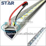 LED Cabinet bars strip light 50cm 36LEDs SMD 5050 12V warm/cold with V type aluminium profile and end cap Warm white