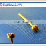 high quality pricision machining gold plated test probe pin/spring contact pin