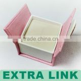 Light decorated newest design fancy paper luxury ring box with velvet insert