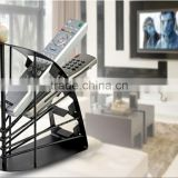 Kawachi New Black Solid Metal Remote Control Organiser Holder Tidy Storage Sky Dvd Tv Av
