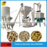 Easy operation livestock animal feed pellet production line with feed formulation