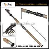 in stock! cheap wholesale carbon telescopic sea fishing surf rod China