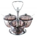 Kinox AS 3-bowl Tinted transparent condiment server