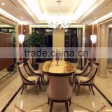 English style solid wood dining room furniture oval dining table