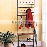 RH-4825 ENTRY WAY Hall Tree Bench Furniture Hook Hanger ORGANIZER Standing Coat Shoe clothes rack