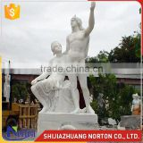 Large carved nude female and male carrara marble sculptures NTMS0950A