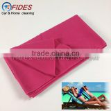 quick-dry triangle pocket micro fibre towel for beach