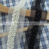 Bridal Headpiece Wedding Dress Belt DIY Gifts Garment Hot Selling White Black Pearl Beaded lace