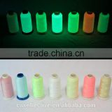 Wholesale decoractive100%polyester luminous sewing embroidery thread,glow in the dark yarn